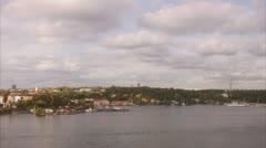 View of Djurgarden, Stockholm Stock Footage