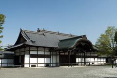 Temple building at Nijojo in Kyoto - stock photo