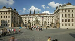 Prague, Castle Sq, T/L Stock Footage