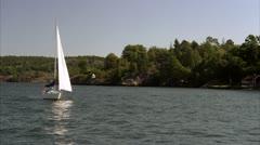 Sailing-boat, Stockholm Stock Footage