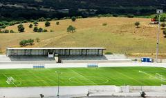 Jalkapallostadionilla klo portugali Kuvituskuvat