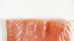 Raw salmon Stock Footage