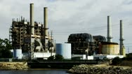 Stock Video Footage of Electric Power Plant- Long Beach, CA