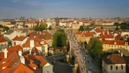 Stock Video Footage of Prague, Charles Bridge T/L