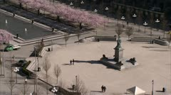A park in the middle of Stockholm Stock Footage