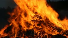 Big Fire Elements - Fire CloseUP A Stock Footage