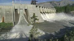 Kananaskis Dam w 01 - stock footage