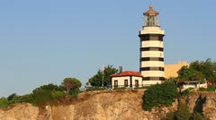 Sile lighthouse, Istanbul Stock Footage