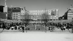 Kungstradgarden in spring, Stockholm Stock Footage