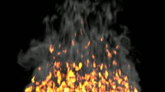 Animated fire with smoke 4 Stock Footage
