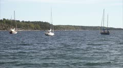 Sailing-boats, Stockholm Stock Footage