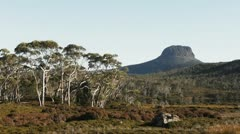 Barn Bluff on the Overland Track - stock footage