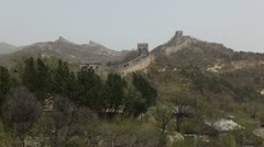 The Great Wall of China, Crowds of people on Chinese Great Wall, Holiday Stock Footage