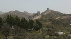 Time Lapse of The Great Wall of China, Crowds of people on Chinese Great Wall Stock Footage