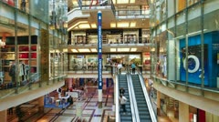 Prague, shopping centre T/L - stock footage