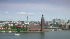 Stockholm City Hall, Stockholm Stock Footage