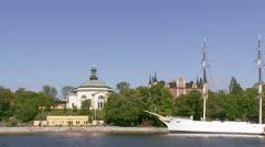 Skeppsholmen, Stockholm Stock Footage