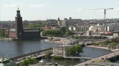 View of Stockholm Stock Footage