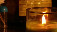 Bright Candle Flame Close Up (HD) Stock Footage