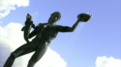 The statue Poseidon, Gothenburg Stock Footage