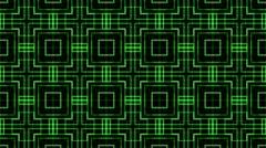 Matrix kareido background square Stock Footage