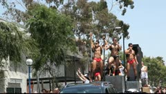 Gay Parade in West Hollywood, Los Angeles Stock Footage