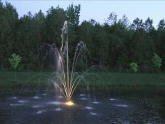 Landscape Water Fountain Stock Footage