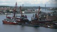 Gothenburg harbour entrance Stock Footage