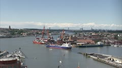 Gothenburg harbour entrance Stock Footage
