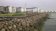 Bo01, a housing area in Malmo Stock Footage