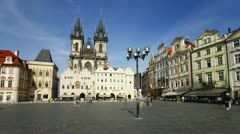 Prague, Old Town T/L Stock Footage