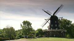 A wind mill - stock footage