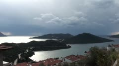 Kas panorama on peninsula - stock footage