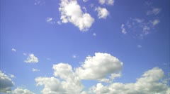 White clouds on the blue sky - stock footage