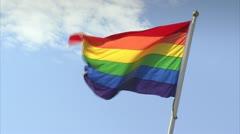 The rainbow flag Stock Footage