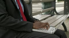 A businessman using a laptop, Stockholm Stock Footage
