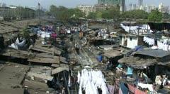 Laundry washing in Mumbai India Stock Footage