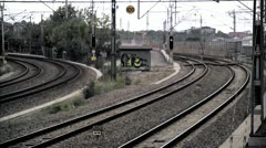 Train services, Stockholm - stock footage