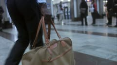 A businessman carrying a bag at a train station, Stockholm Stock Footage