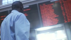 A businessman at a train station, Stockholm Stock Footage