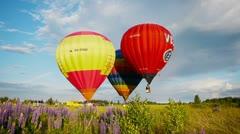 The XVII-th Velikie Luki International Balloon Meet Stock Footage