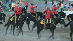 Royal Canadian Mounted Police Musical Ride.1 Stock Footage