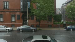 Raining in Boston - stock footage