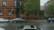 Raining in Boston Stock Footage