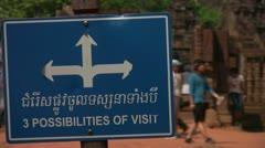 Siem Reap Banteay Srei Sign - stock footage