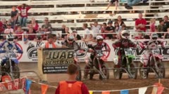 Motorcycle enduro race start and route P HD 0814 Stock Footage