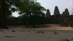 Siem Reap East Mebon Very Low Angle - stock footage