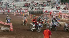 Motorcycle extreme enduro first turn slow P HD 0826 Stock Footage