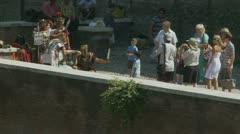 Gladiators & tourists Stock Footage