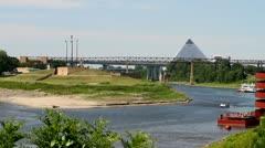 Mud Island Memphis - stock footage